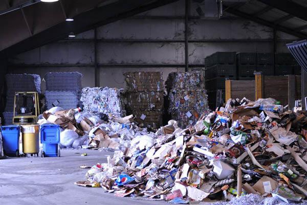 Huge garbage depot